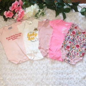 Baby Girl Pink Onesies Size 3 Months